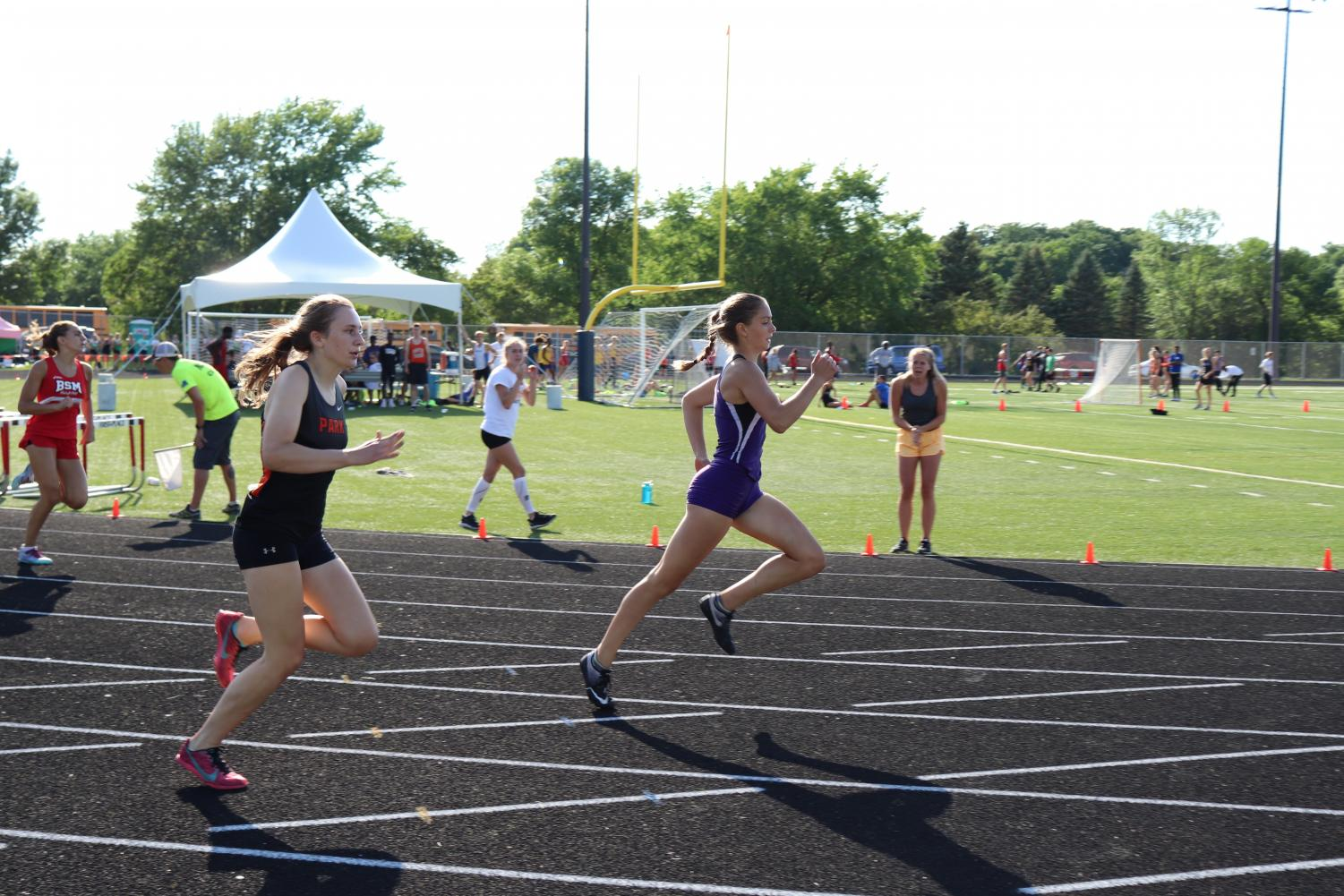 Junior Anna Jennissen placed second in the 400 meter dash at sections Thursday May 31.