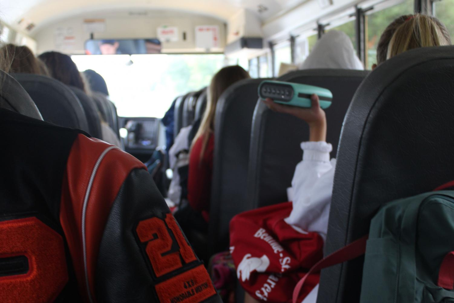 Because of the shortage of bus drivers, the St. Louis Park and Benilde-St. Margaret cross country teams had to share a bus to their meet Sept. 25.