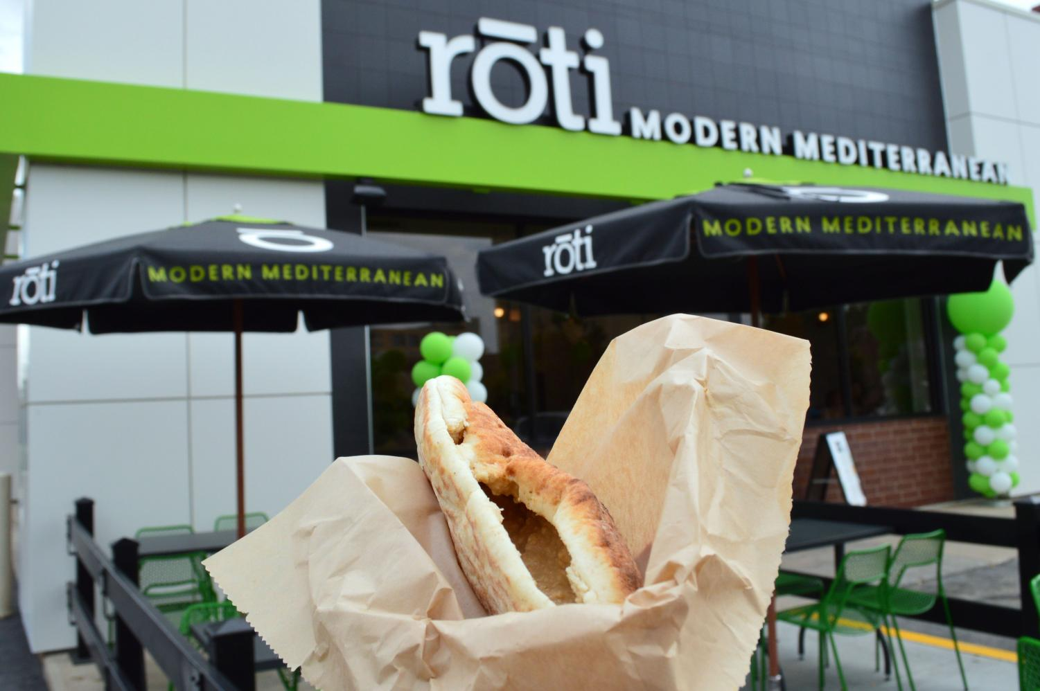 The recently opened St. Louis Park Roti Modern Mediterranean offered a smokey hummus, which overpowered their tahini. Their falafel sandwich had the lowest score out of the five restaurants, being rated 2/5 stars.