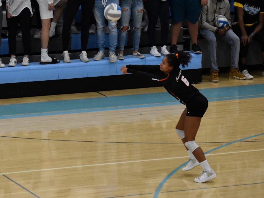 Senior Maddy McIntosh passes the ball to a teammate during the second round of sections against Jefferson Oct. 25. Park will play Edina Oct. 30 in the section semi finals.