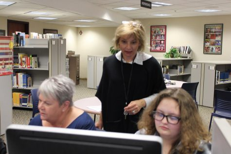 Park staff provides support to fill out financial aid forms