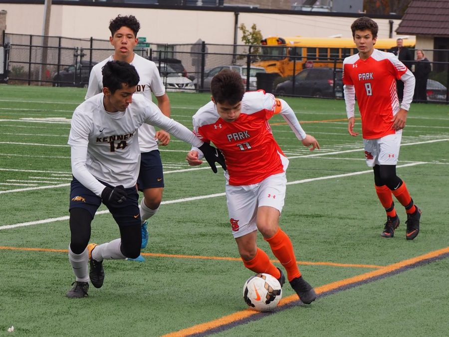 Boys' soccer wins second section game