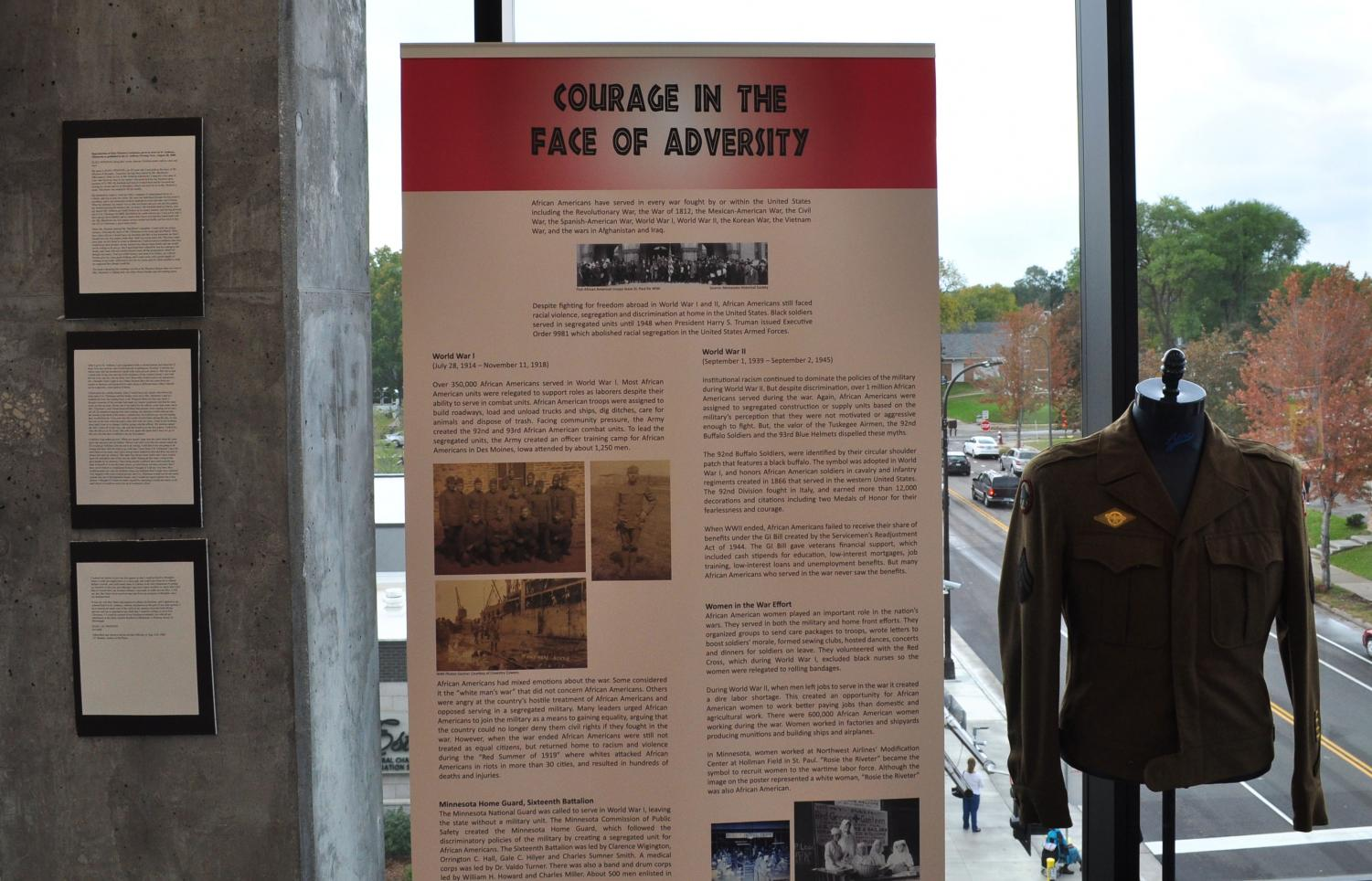 The African American Heritage Museum celebrates the resilience of African Americans in Minnesota. On display is an authentic uniform from WWII belonging to Jack Sidney Rainey Sr. The museum is free of admission and is open from 1- 5 p.m. Tuesday-Saturday, located at 1256 Penn Ave North in Minneapolis.