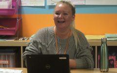 Student teacher aids Allison Luskey