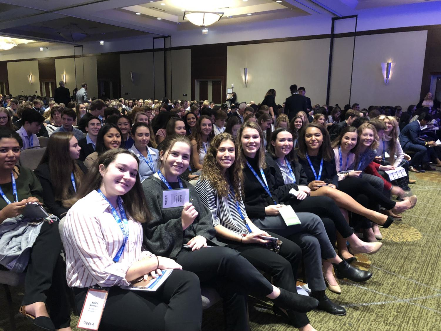 DECA attended the fall leadership conference at the Hyatt Regency in downtown Minneapolis.
