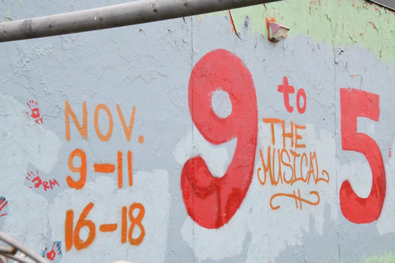 Thespians painted the senior wall Nov. 3 to advertise the fall musical