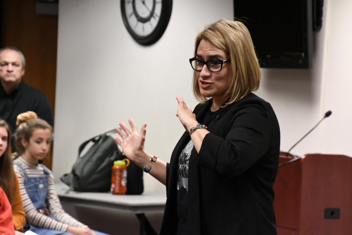Minnesota's Lieutenant Governor-elect Peggy Flanagan spoke to Brad Brubakers 9th grade honors civics class. As a high schooler, Flanagan attended St. Louis Park  and spoke to the students about her time at Park as well as her time in the government.
