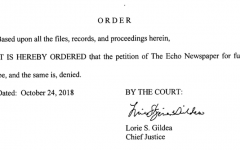 Supreme Court denies Echo's petition for review