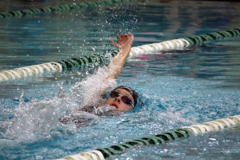 Sophomore Grace Loveland swims backstroke in the 200-yard individual medley Nov. 8. Park placed second overall at Sections.