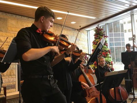 Chamber orchestra tours synagogue, hospital