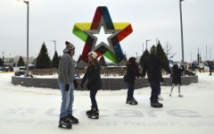 Outdoor ice rink at Mall of America