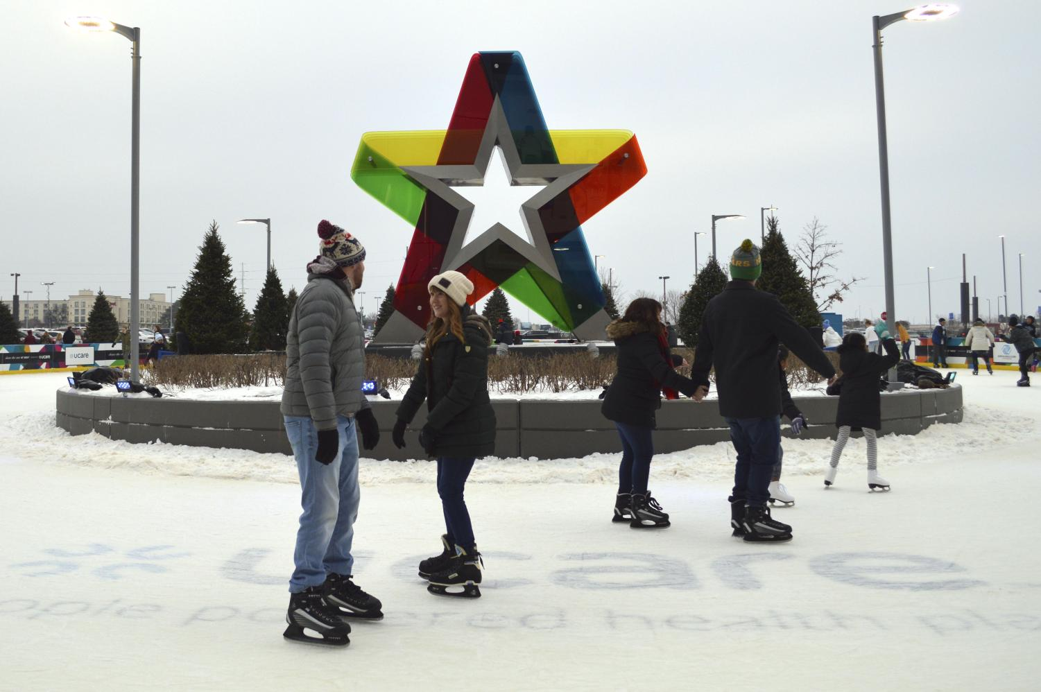 The ice skating rink outside of the Mall of America which closes on Jan. 27. According to the Mall of America, renting ice skates requires a $5 fee.