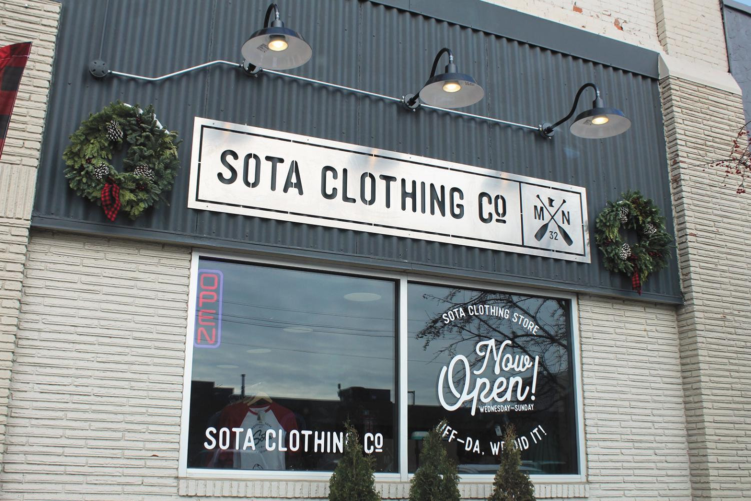 The Sota clothing store opened in Aug. 2018 and can be found at 6518 Walker St, St Louis Park or visited online at sotaclothing.com.