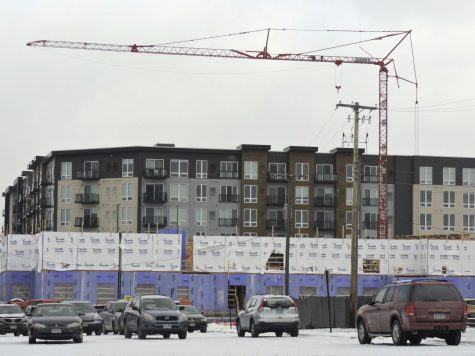 New apartments in the West End remain under construction. The apartments will add 207 new dwellings to St. Louis Park.