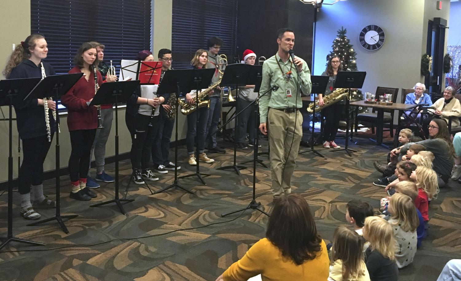 A small group from Park bands performs at TowerLight Senior Living Dec. 17, 2018. The group is called Harmony Bridge and they perform about twice a year at various locations.