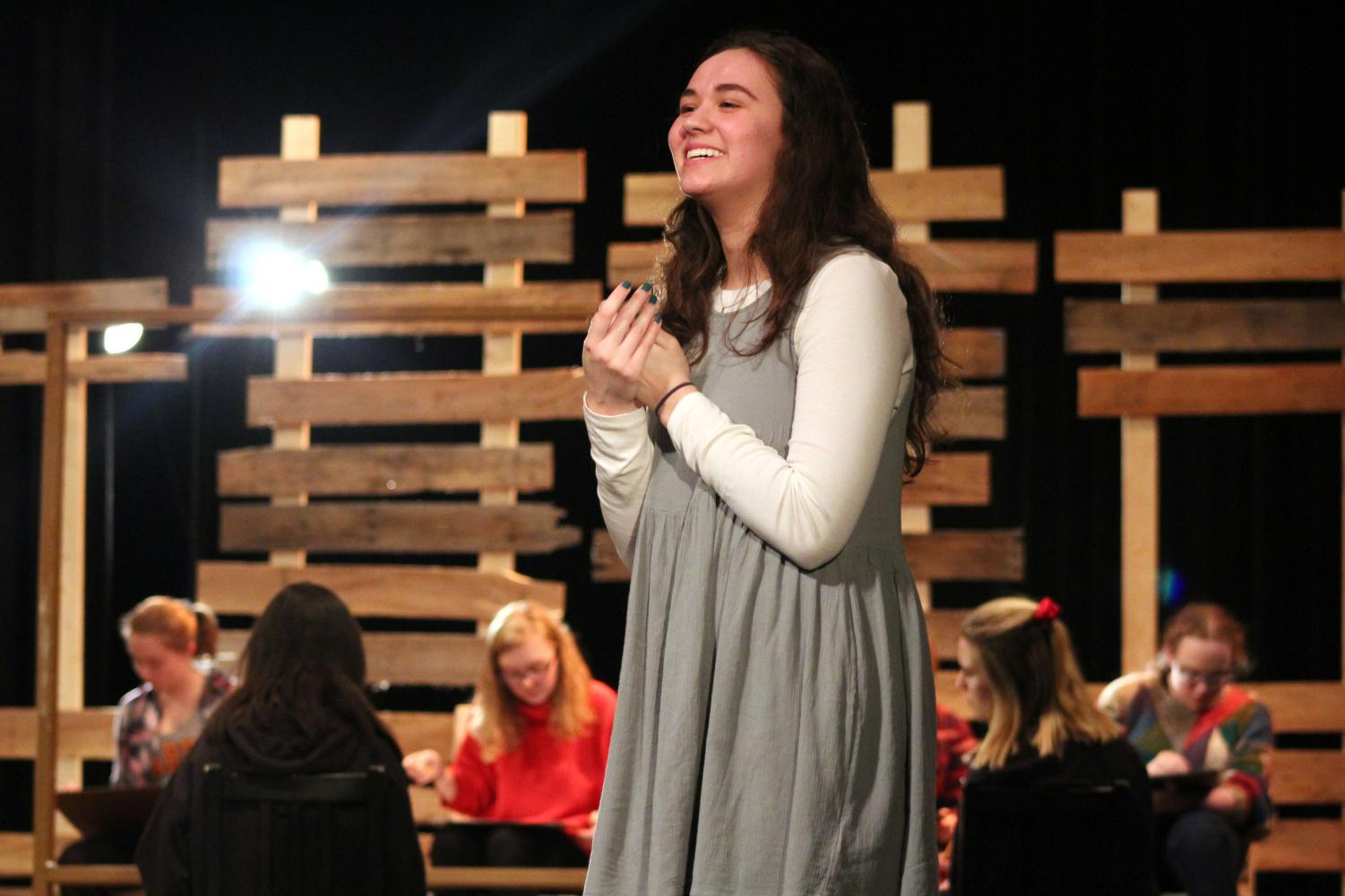 Sophomore Lilly Strathman plays character Carol Stuckey in Park's rendition of