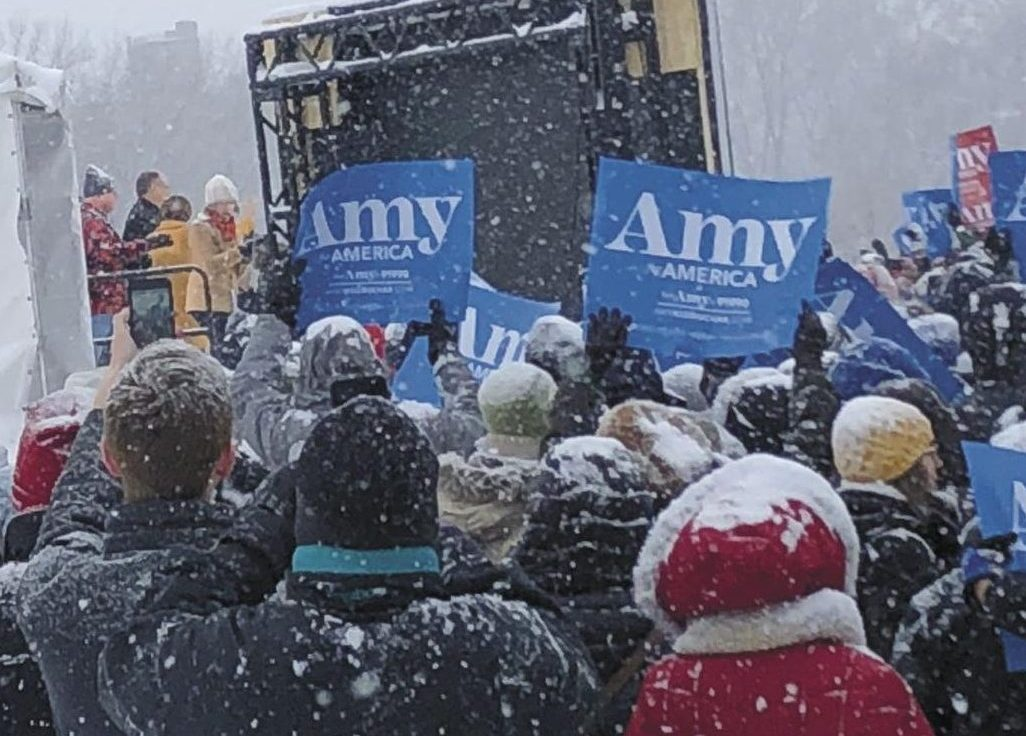 Senator Amy Klobuchar initiates presidential campaign at a rally Feb. 10. at Boom Island.