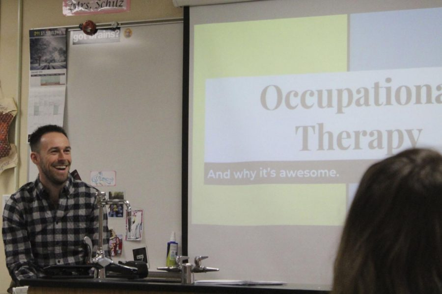 MED club had occupational therapist Steven Boraas speak to discuss his responsibilities Feb. 4. Boraas said he graduated from Park in 2010.