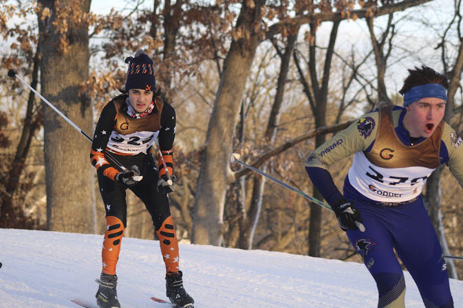 Junior Rakesh Plantz races Jan. 10 at Theodore Wirth Park. Theodore Wirth was the same location where Plantz raced in the Section 6 meet Feb. 4. According to Plantz the boys team placed 6th out 12 teams after racing in icy conditions.