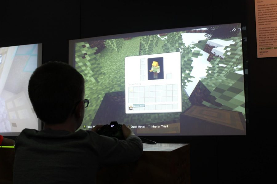Children+and+parents+have+been+able+to+play+90s+video+games+at+the+%E2%80%9CGame+Changers%E2%80%9D+exhibit.+The+exhibit+is+open+from+Feb.+15+to+May+5+at+the+Science+Museum.+
