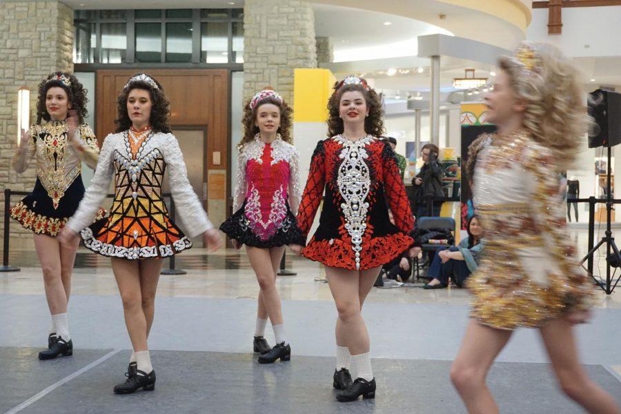 Dancers perform for cultural celebration