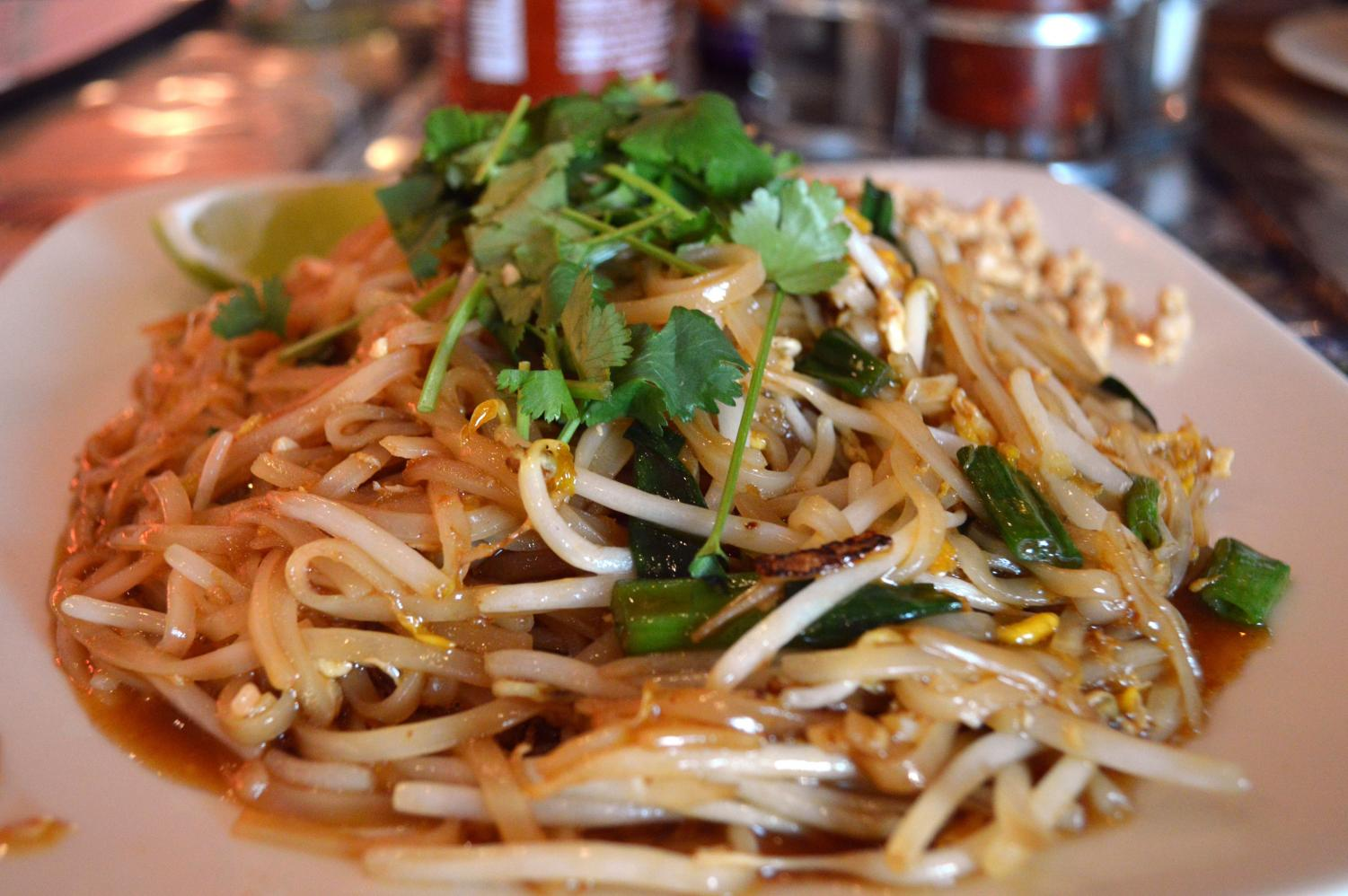 Thai Table's pad thai, which was $9.99, came in second place out of all five restaurants.