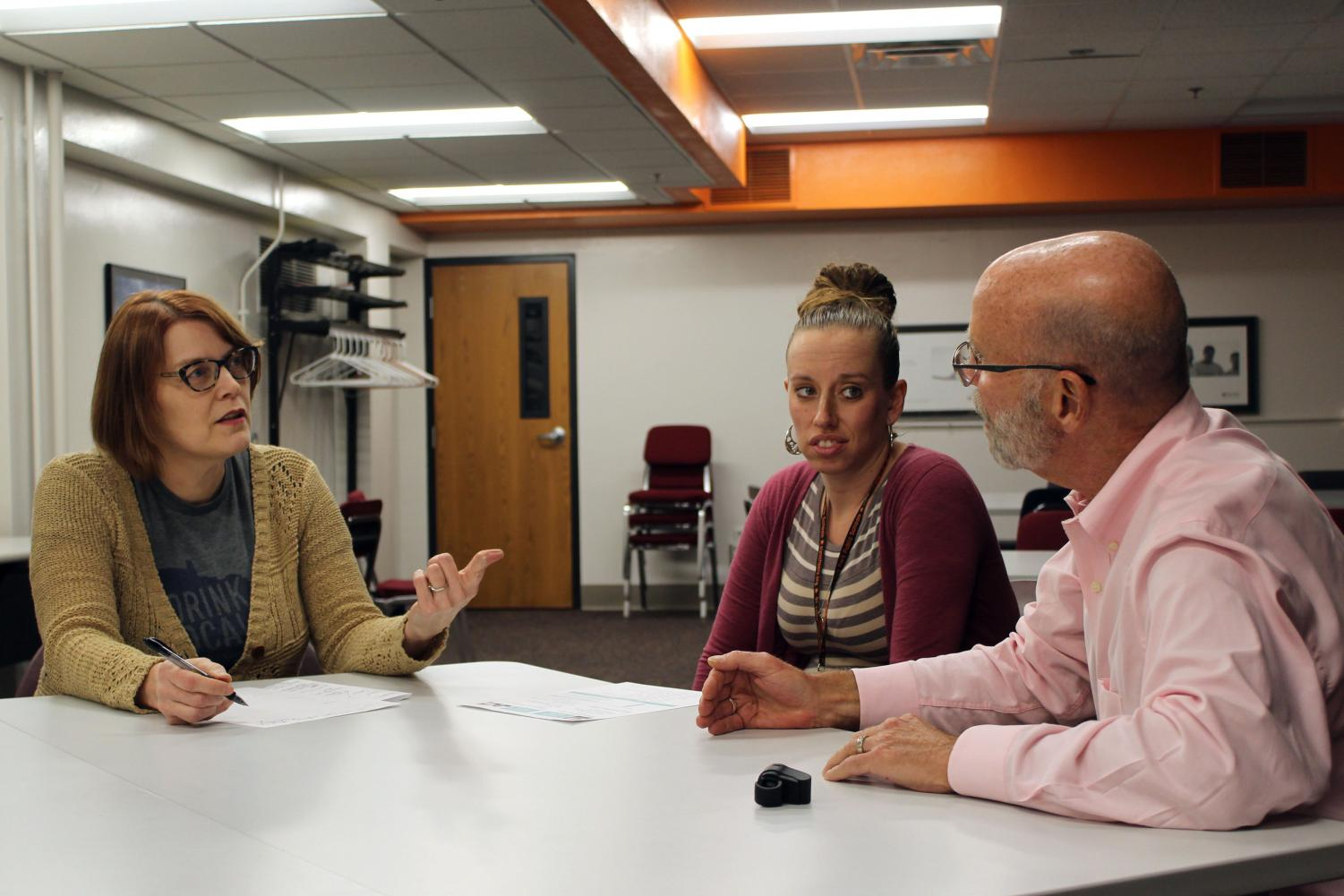 Park parent Paula Engelking attends a parent workshop with therapist Marc Hertz March 22. Engelking attended the conflict resolution session in order to find solutions for disputes with her children.