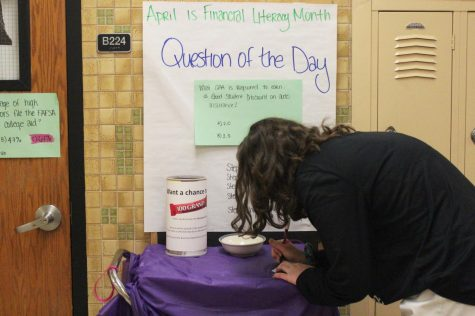 Teacher raises awareness for Financial Literacy Month