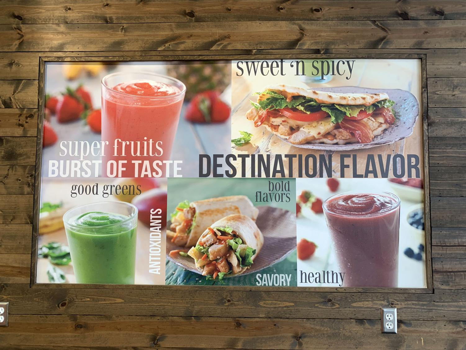 Tropical Smoothie Cafe is located in Knowlwood and offers different types of smoothies and food options.