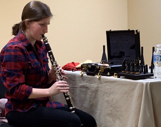 Sophomore Anavey Hosack practices her clarinet. Hosack went on to win the Best of Sight Award, the first time someone from Park has won the award in five years.