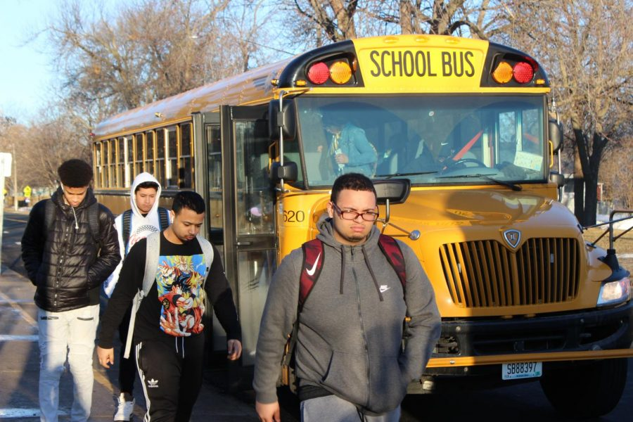 Park students prepare to enter school on the morning of March 22. The decision was finalized and will go into affect for the 2020-2021 school year.