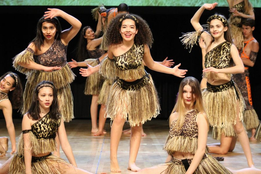 Freshman Dayanara Mora Zengel performs with her dance group Colombia Live! May 3 at the Festival of Nations. The dance troupe practices every week Sunday from 4:30-6 p.m.