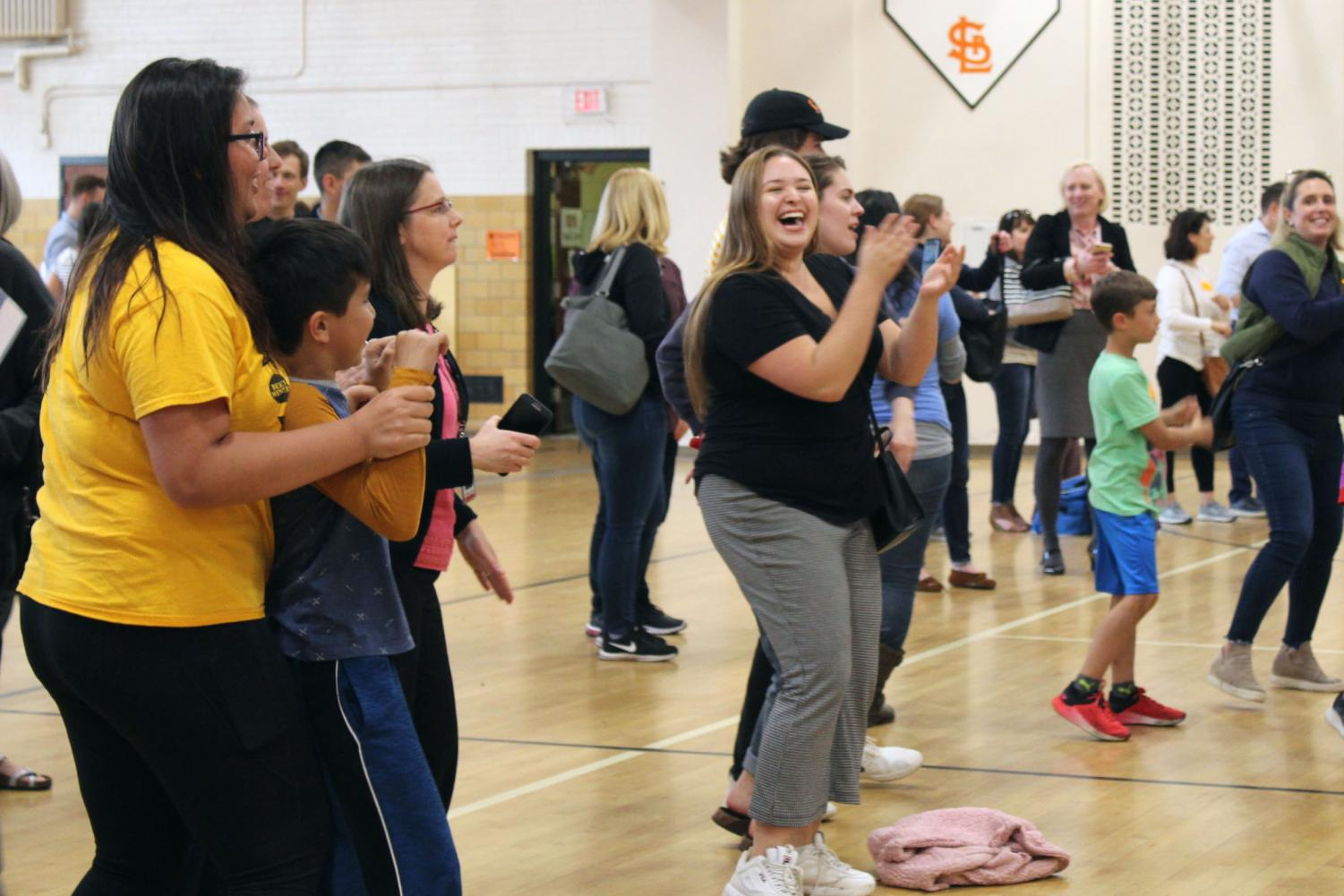 Senior Cecilia Brown dances during the Park Spanish Immersion goodbye party May 21. Park Spanish Immersion will move to Cedar Manor next school year.