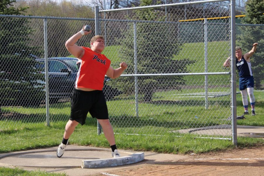 Senior+Nick+Medina+places+first+in+shot+put+in+Sections+with+a+score+of+50-05.50.+He+threw+at+Sections+May+28+and+30.+