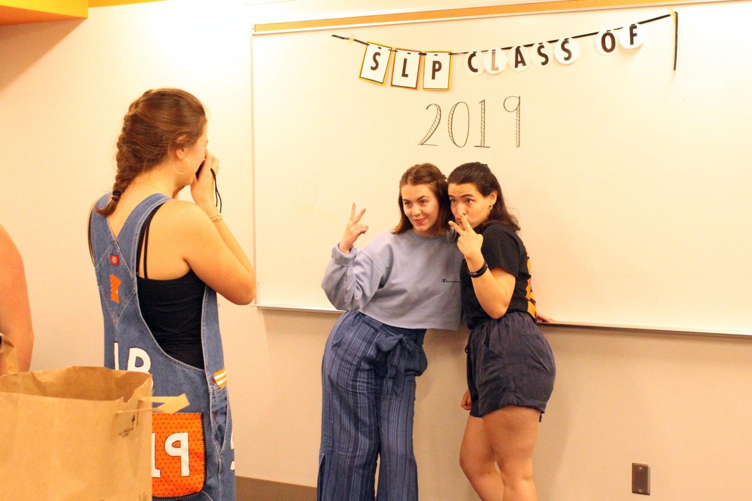 Seniors have a goodbye party for the last day of school. There was food, and fun activities for them to do.