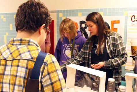 Students utilize Special Education breakfast space