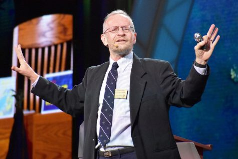 Dr. Richard Alley, the Evan Pugh Professor of Geosciences at Penn State University, gives a speech about proof of climate change at the 2019 Nobel Conference. The 55th annual Nobel Conference had a theme of