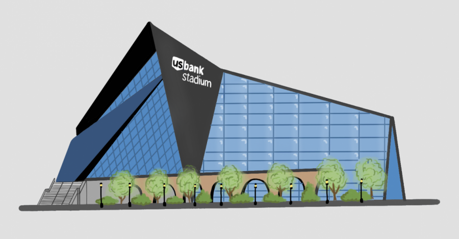 The+U.S.+Bank+Stadium+officials+are+considering+modifying+the+stadium%27s+glass+in+order+to+reduce+bird+deaths.+Around+111+birds+die+annually+due+to+collision+with+the+building.++