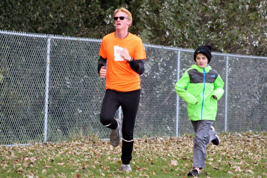 Senior Patrick Djerf practices for Nike Cross Regionals Oct. 30. Djerf was recently named sixth most improved male cross country runner in Minnesota.