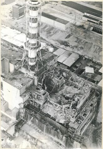 Reactor No. 4 at Chernobyl, which blew up due to inadequately trained personnel, creating devastating nuclear fallout. Cleanup efforts where under equipped leading to high fatalities.