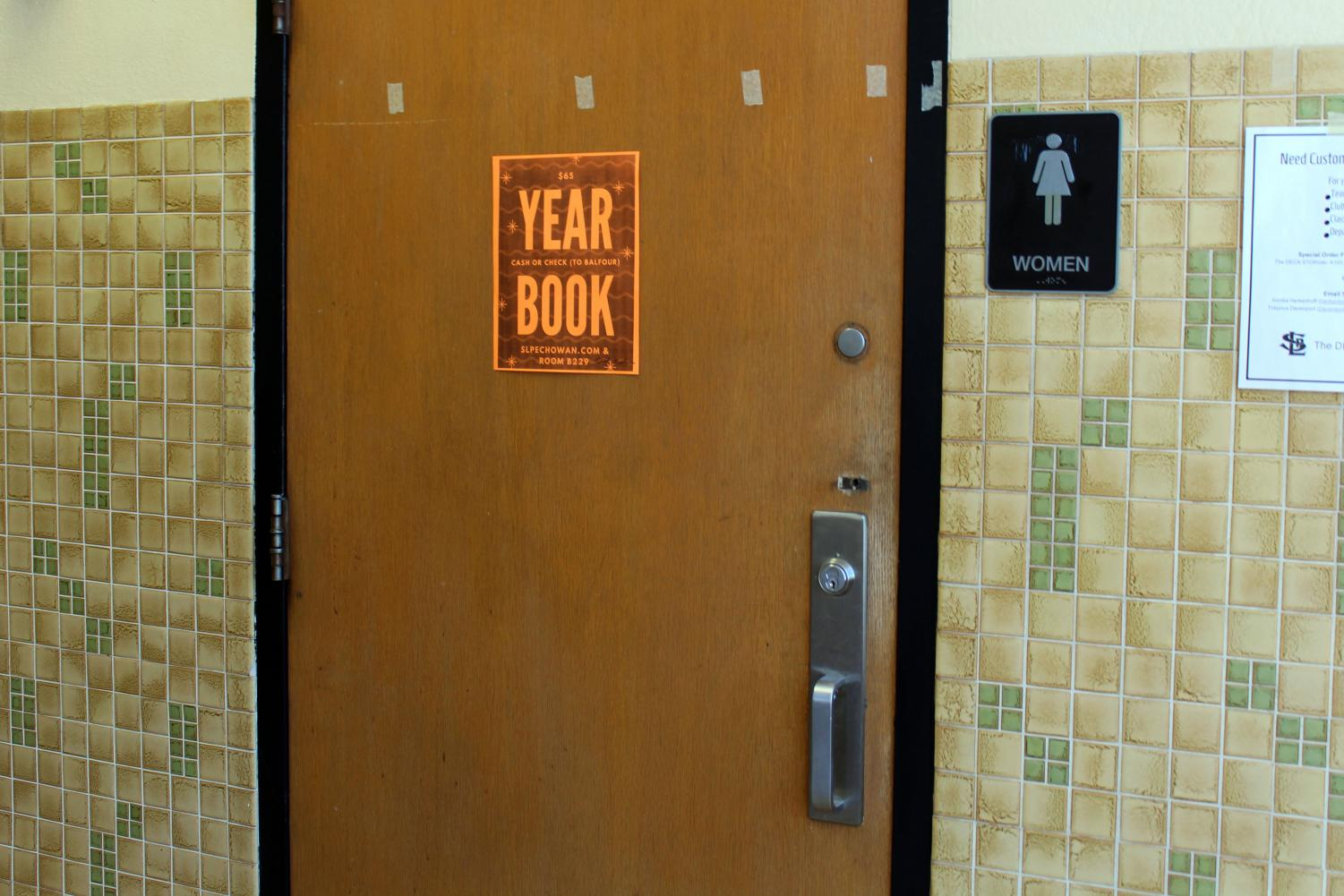 The A3 girls' bathroom is one of the bathrooms available for student use in the building. The 2019-2020 school year updated bathroom practice restricts students from using the bathroom to only during passing time.