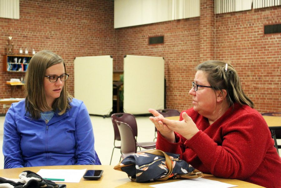 St. Louis Park residents discuss conversion therapy at Union Congregational United Church of Christ Dec. 19. The meeting was hosted by OutFront Minnesota, who will be hosting another meeting Jan. 9.