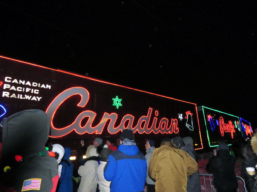 The Canadian Pacific Holiday Train made its way to St. Louis Park for the third year in a row 6 p.m. Dec. 12. The train stopped right outside of STEP, south of Lake Street, so people could bring in money and food donations while enjoying music at the event.