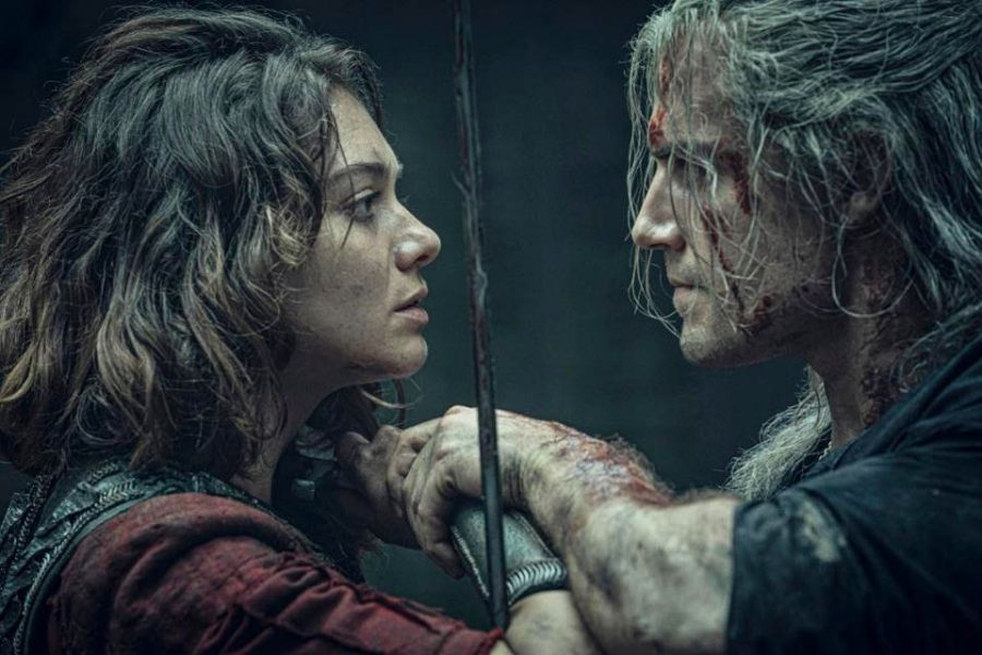 Fair+use+from+Netflix%3A+Geralt+%28Henry+Cavill%29+fights+the+outcast+princess+Renfri+%28Emma+Appleton%29.+During+the+fight%2C+Renfri+tells+Geralt+information+that+will+gain+additional+significance+through+the+progression+of+the+show.