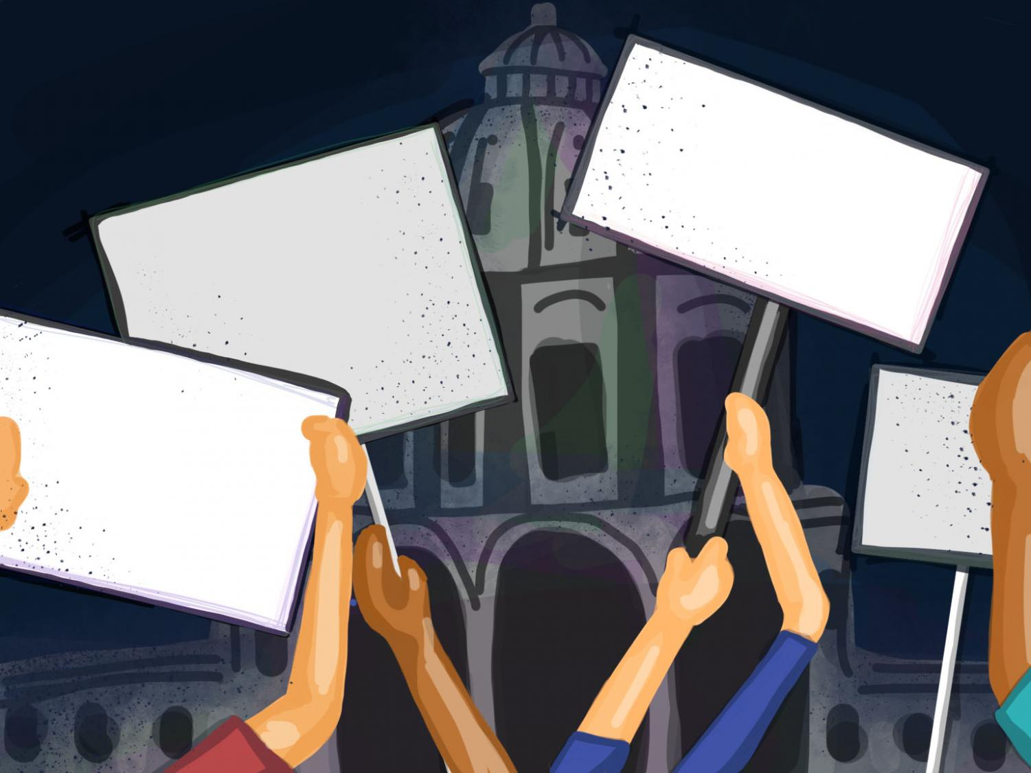 Art by Maggie Klaers. India's new controversial law concerning immigration has caused protests in cities across India and the United States, including St. Paul.