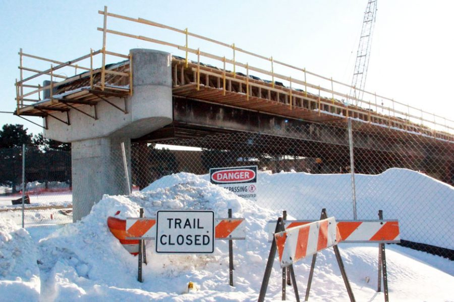 Cedar Lake Trail is closed and under construction among other bike paths in St. Louis Park due to the installation of the light rail. The trail will reopen Fall of 2021 according to Minnesapolis Parks.