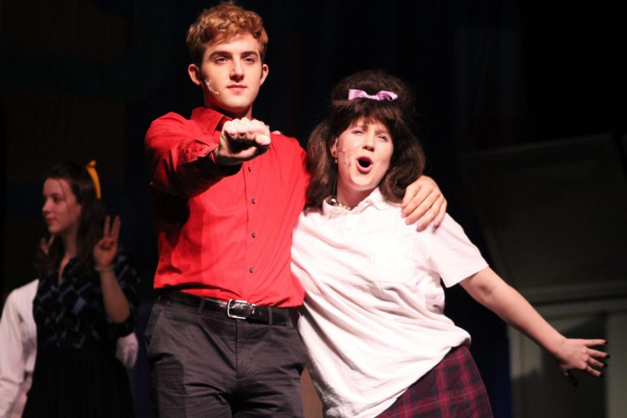 Senior Isaac Wahl and Junior Bynn Langaard dance to the song I can hear the Bells during dress rehearsal Feb. 16.