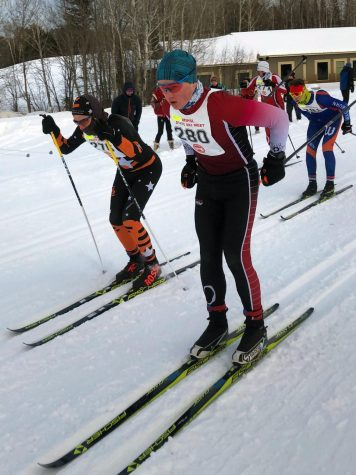 Junior Danny Walsh competes in the Nordic State meet Feb. 14. Walsh participated in the freestyle and classic pursuit races.