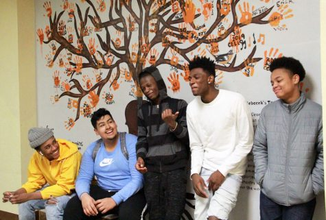 Sophomore Kyron Wesson and juniors Elijah Turner, Carlos Acevedo Saavedra, Reynell Randle and Jalen Witherspoon film a video for their YouTube channel YSN4L Feb. 14. The channel has reached 277 subscribers with a total of 4,396 views.