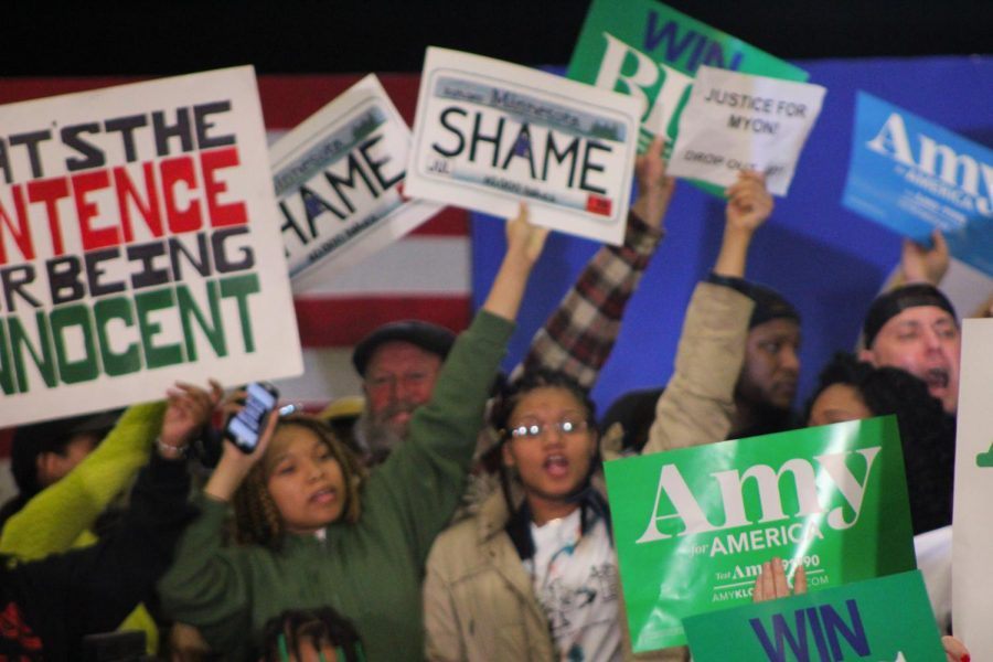 According to a campaign spokesperson, the campaign offered the group of protesters a meeting with the senator if the group would leave the stage after being on for more than an hour. After initially agreeing, the group backed out, and the campaign canceled the event.